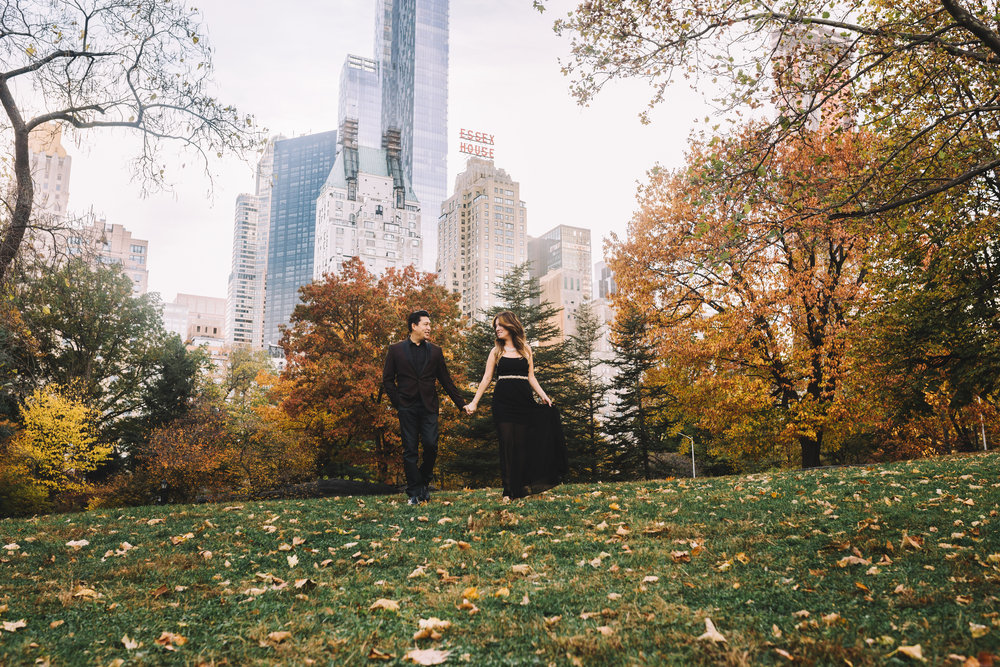 Fall Central Park Engagement