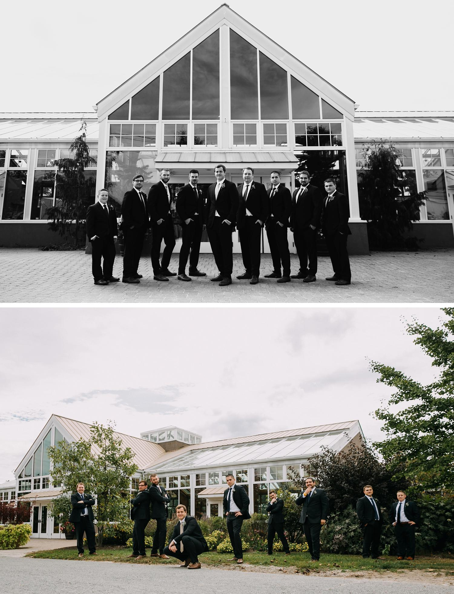 Conservatory Sussex County Fairgrounds Augusta NJ Wedding Photography Steph Massaro Groomsmen