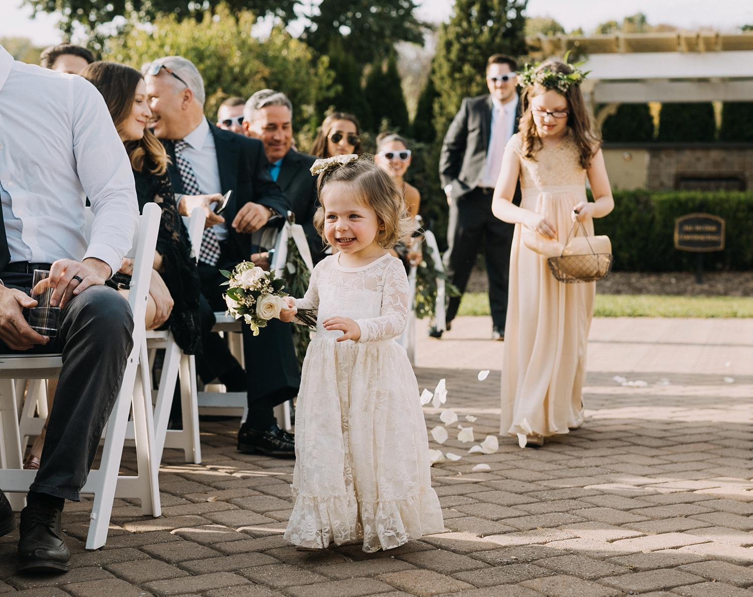 Conservatory Sussex County Fairgrounds Augusta NJ Wedding Photography Steph Massaro Ceremony Flower Girl
