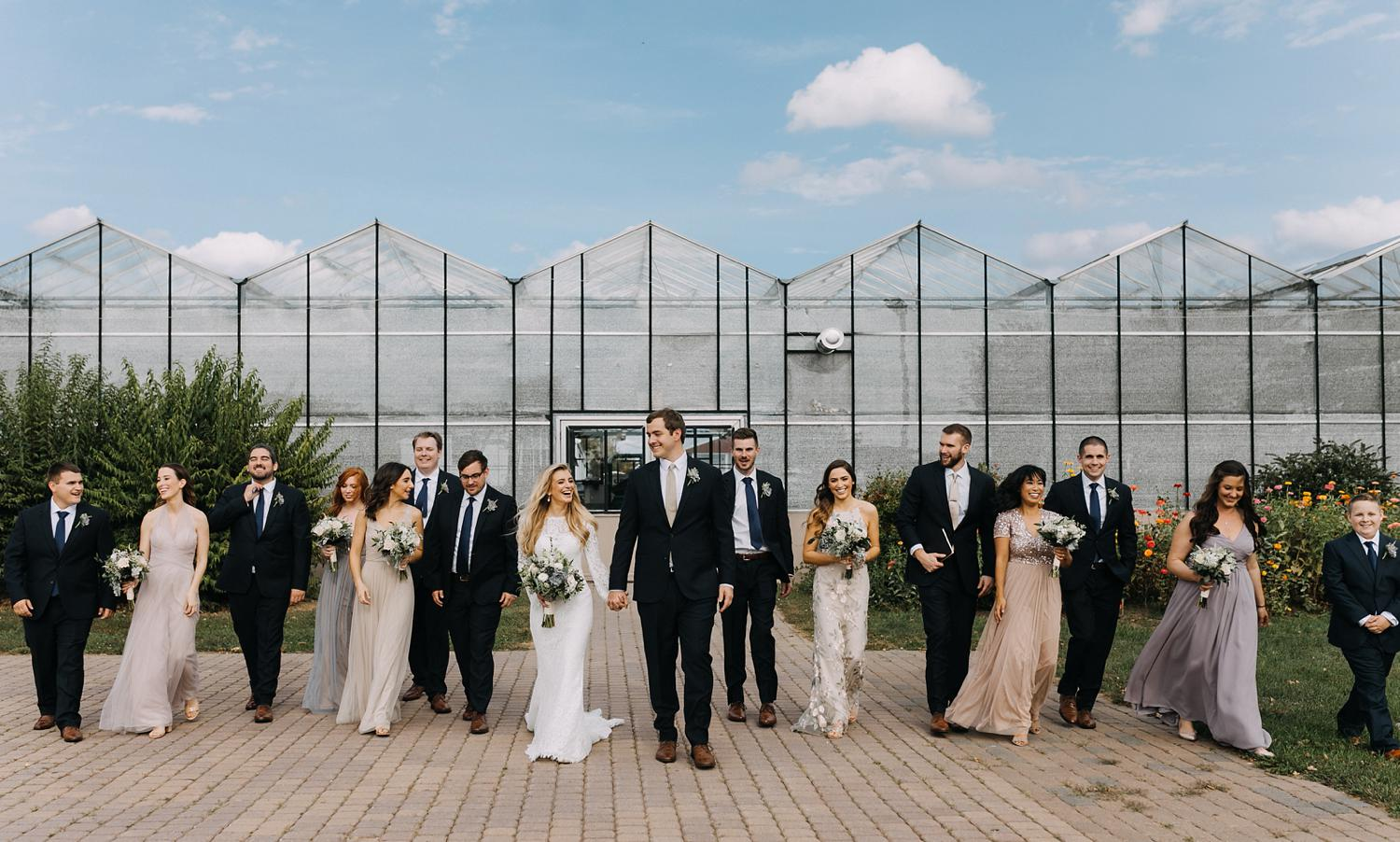 Conservatory Sussex County Fairgrounds Augusta NJ Wedding Photography Steph Massaro Bridal Party Portraits