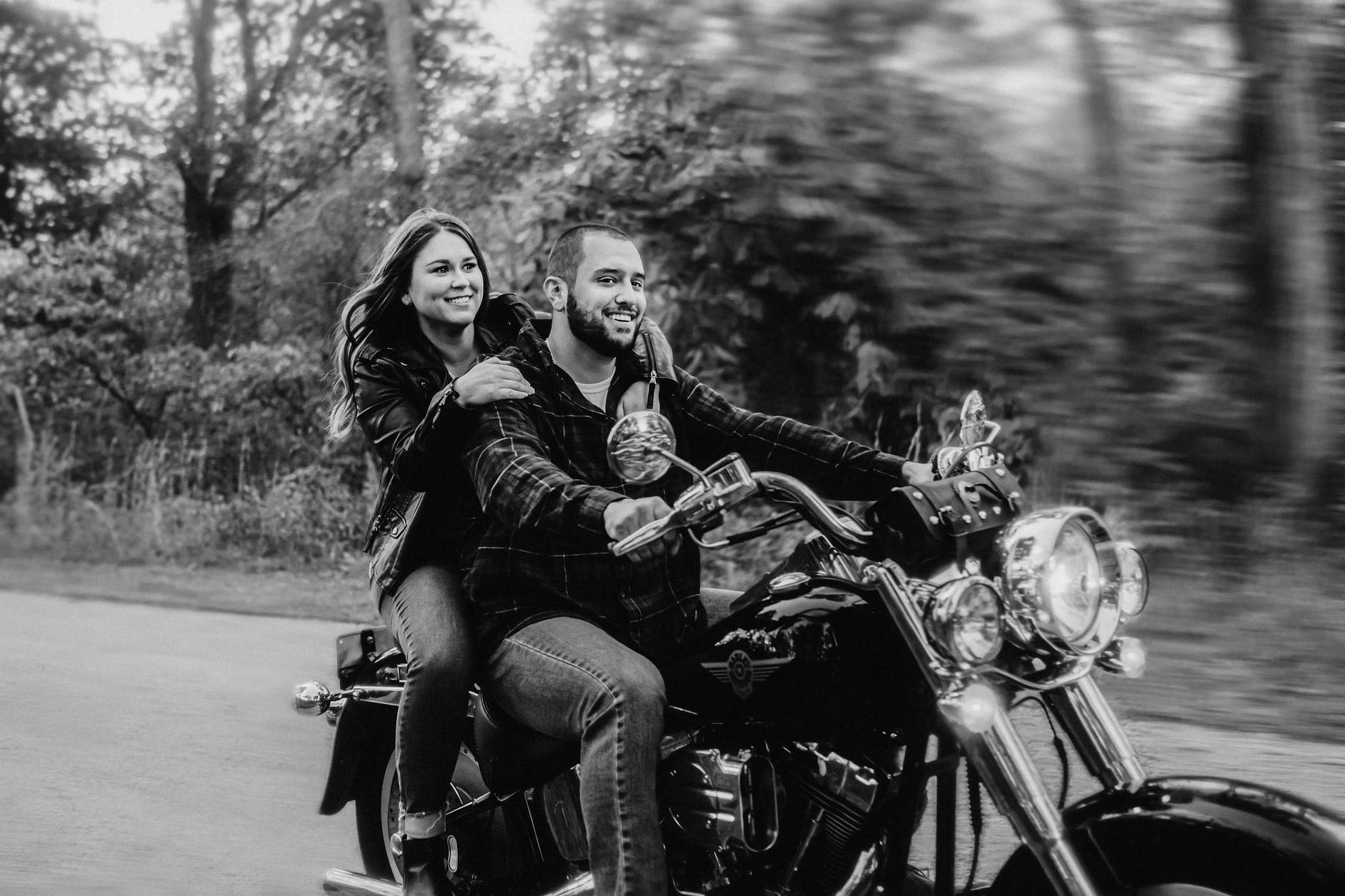 New Jersey Motorcycle engagement shoot