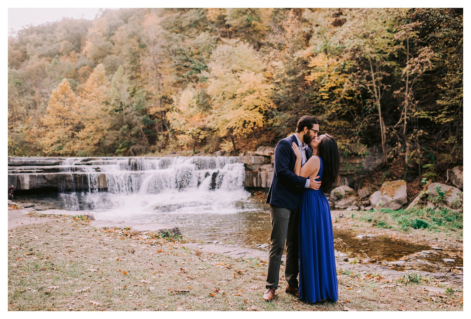 taughannock falls engagement session
